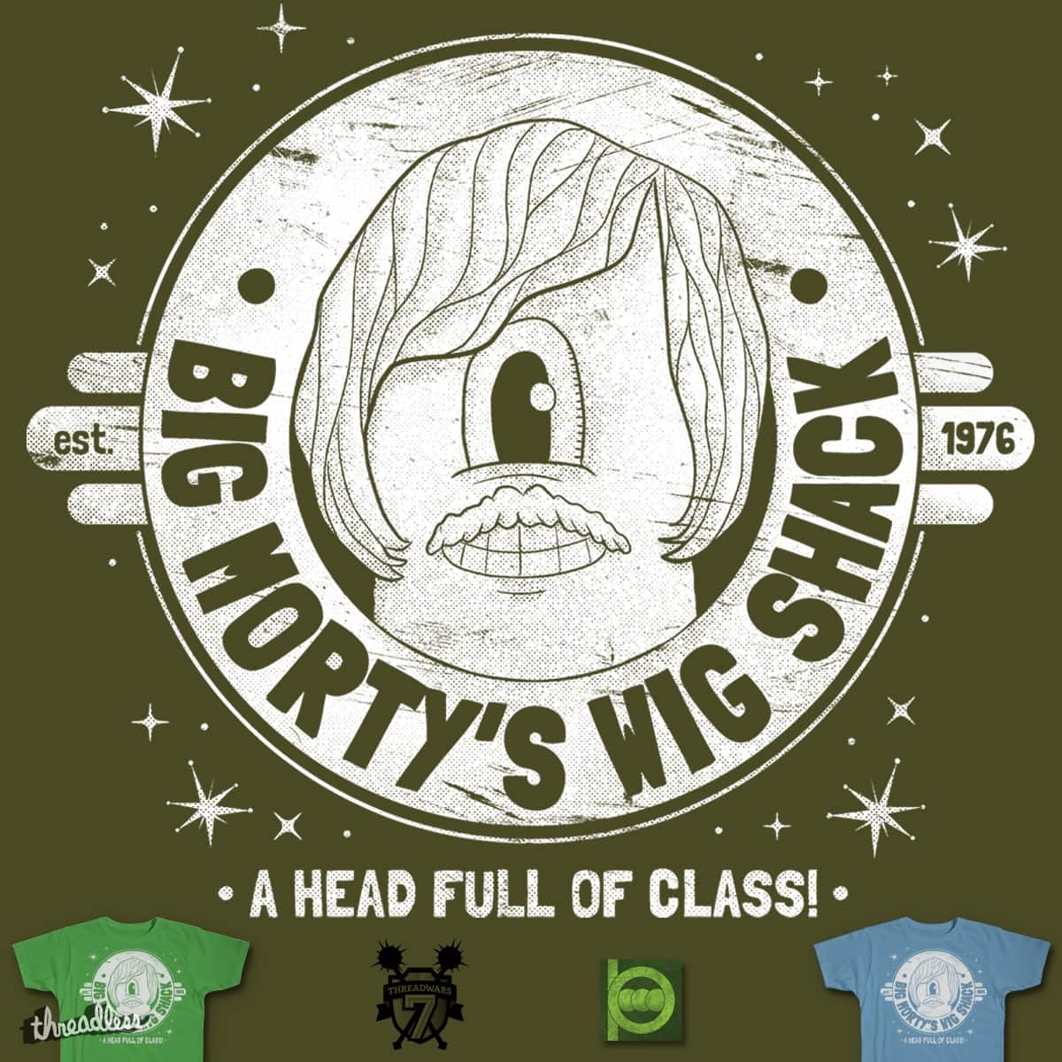 Big Morty's Wig Shack by BeanePod on Threadless