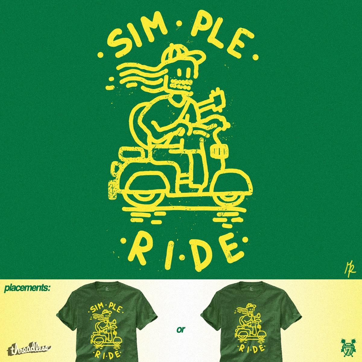 Simple Ride by micheleficeli on Threadless