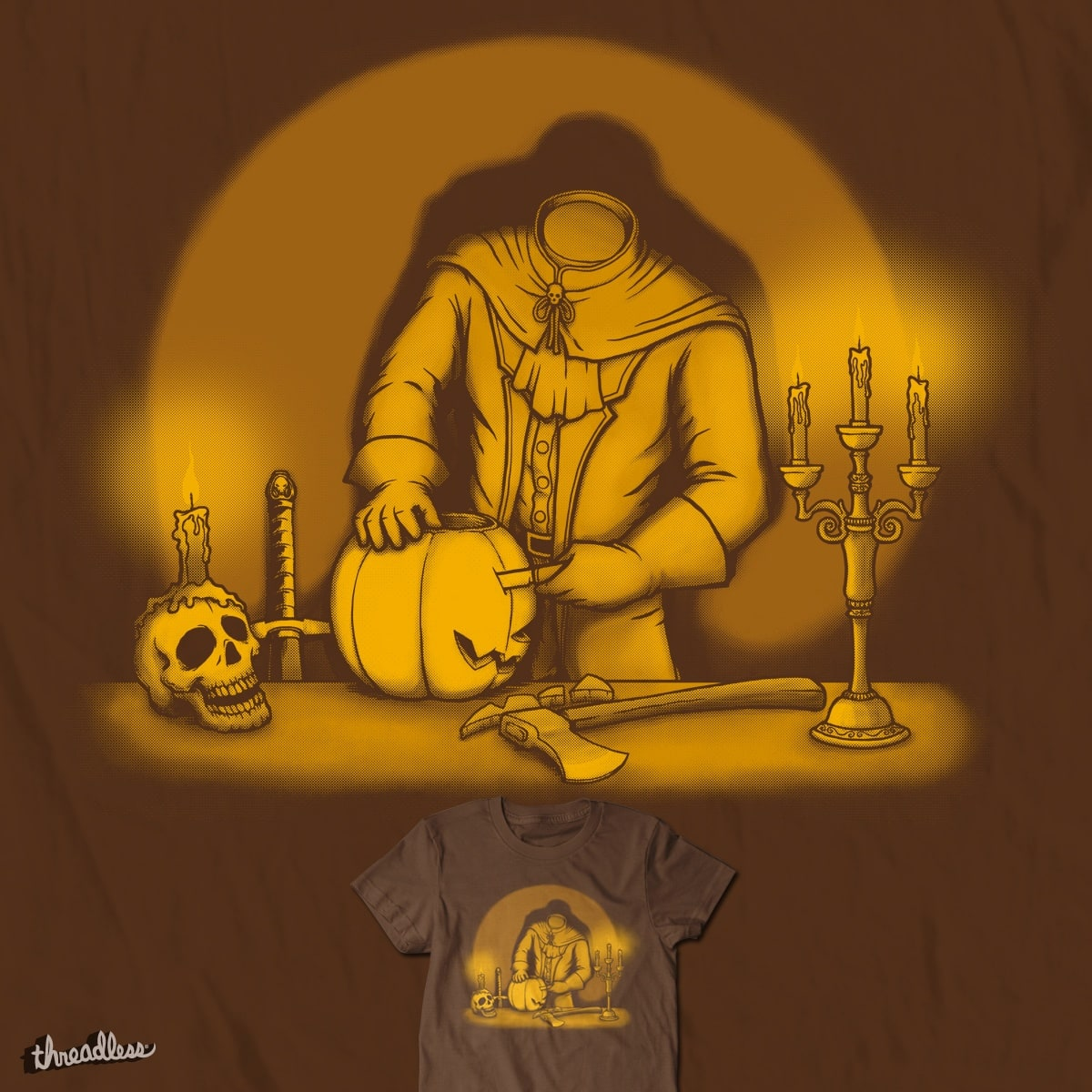 Pumpkin Carving by Doodle by Ninja! on Threadless
