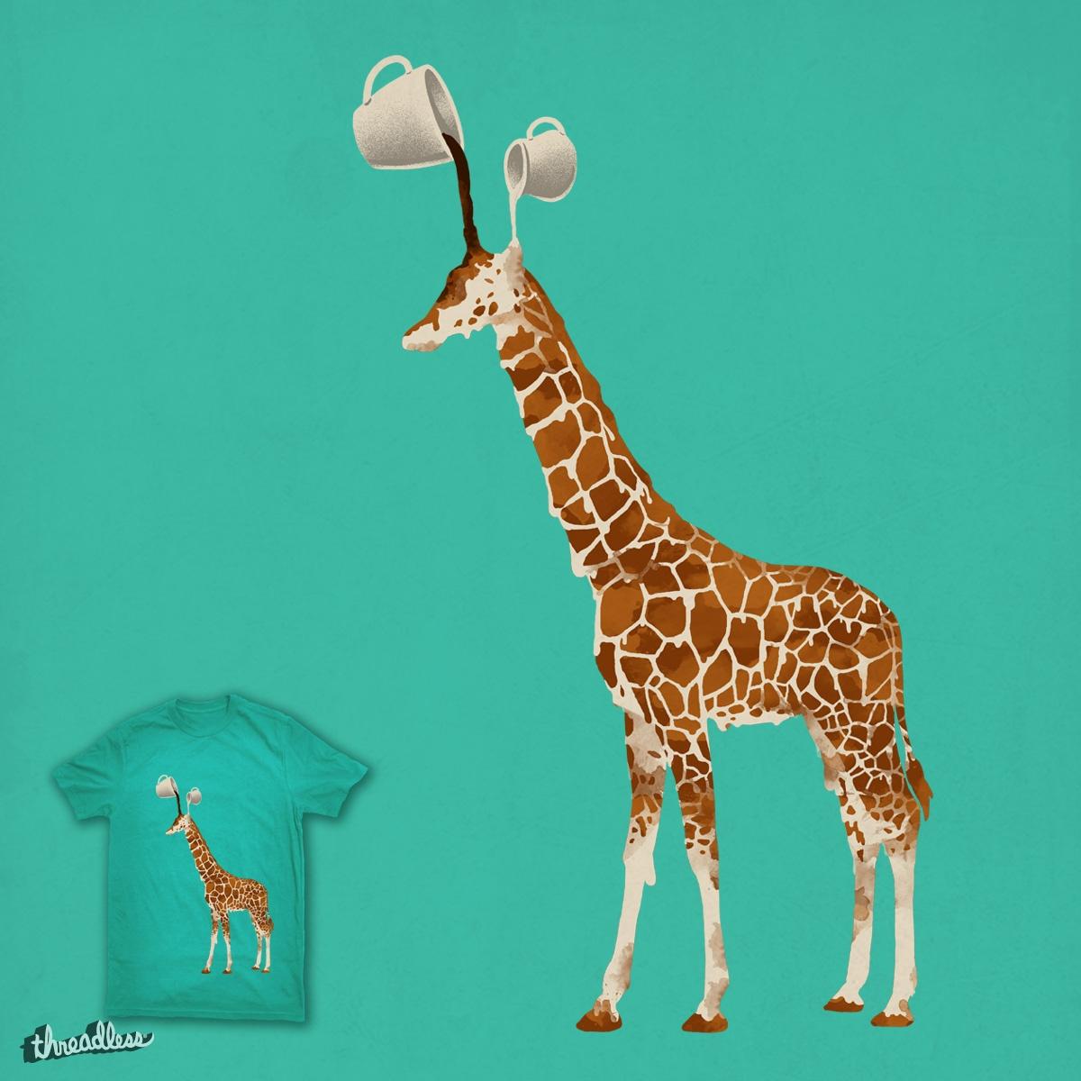 Coffee Giraffe by ben chen on Threadless