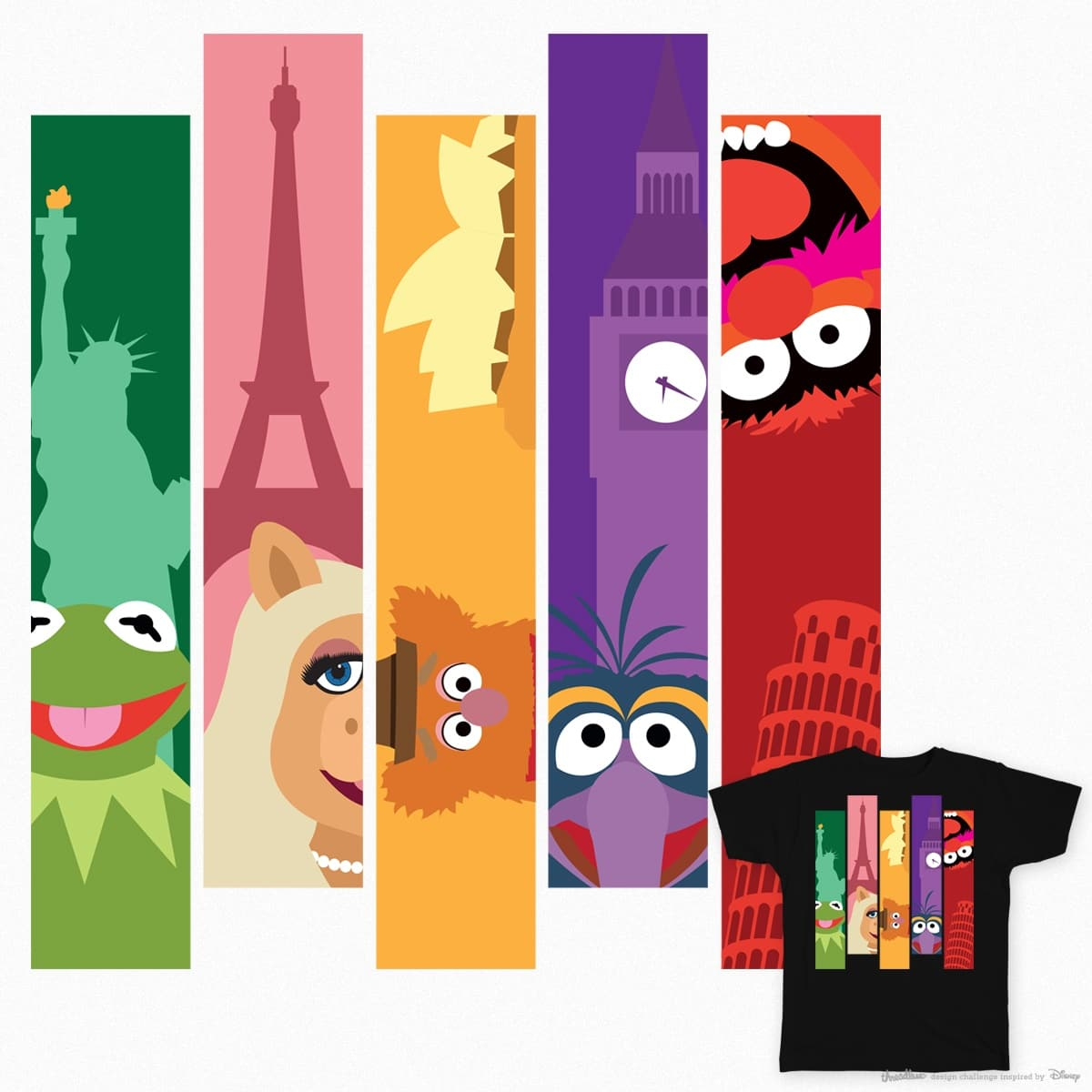 Muppets Go Global by justonescarf on Threadless