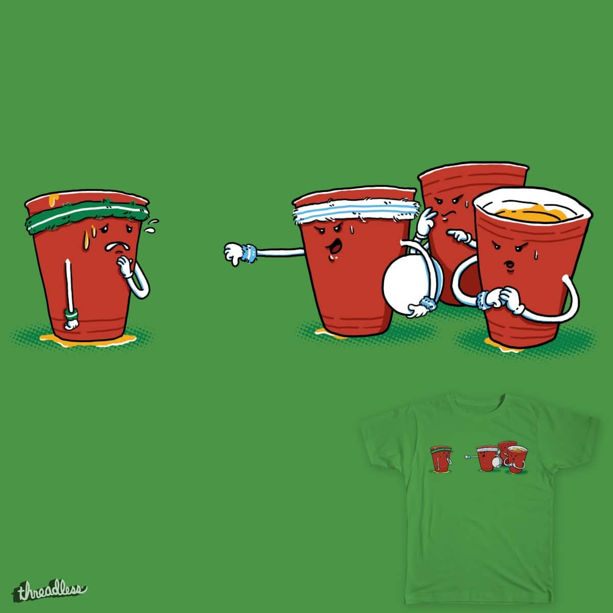 Beer pong by lumad on Threadless