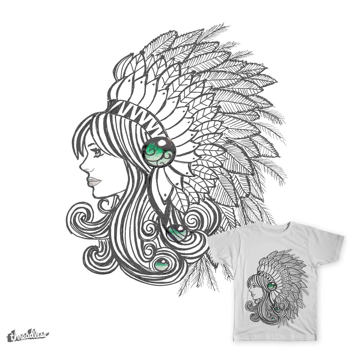 indian girl by Edwinaxpeadar on Threadless