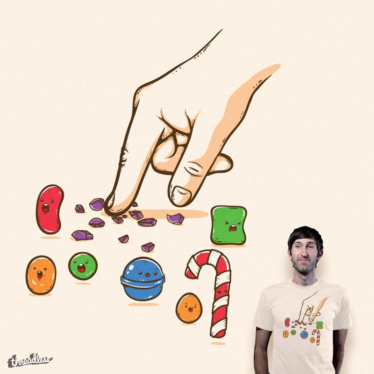 Candy Crush Saga by Robo Rat and mip1980 on Threadless