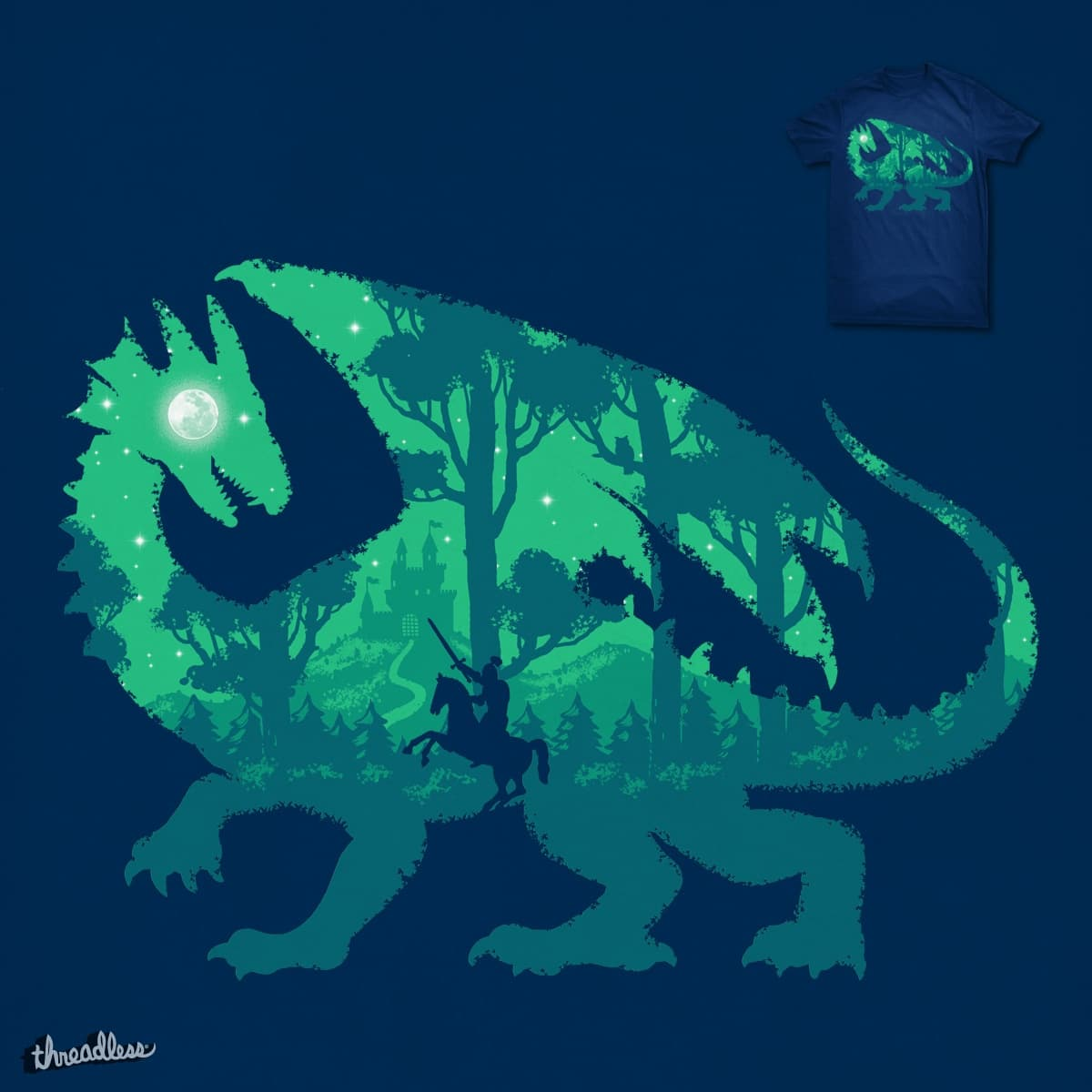 Night Dragonslayer by ben chen on Threadless