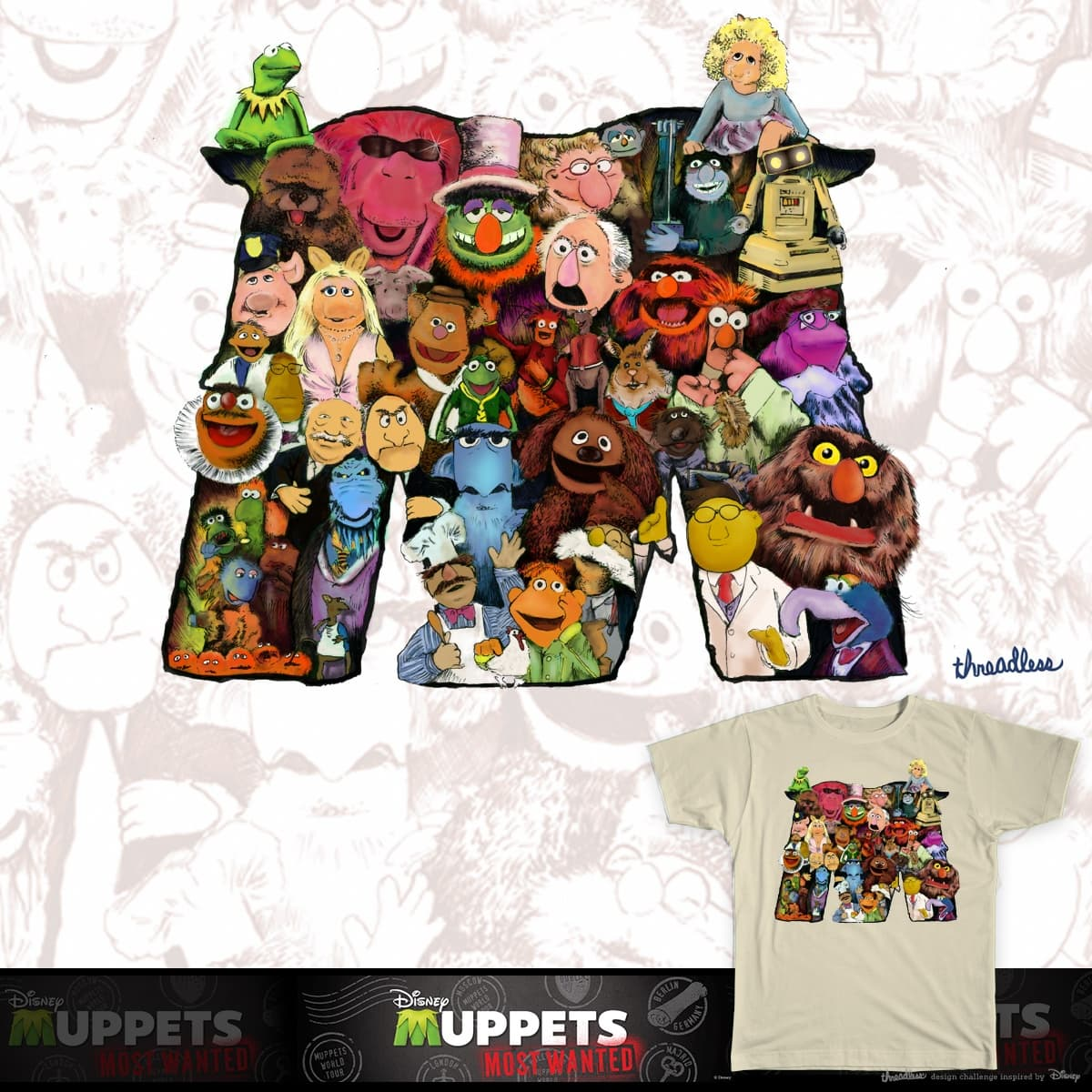 Muppets Most Wanted  by Joostdesign on Threadless