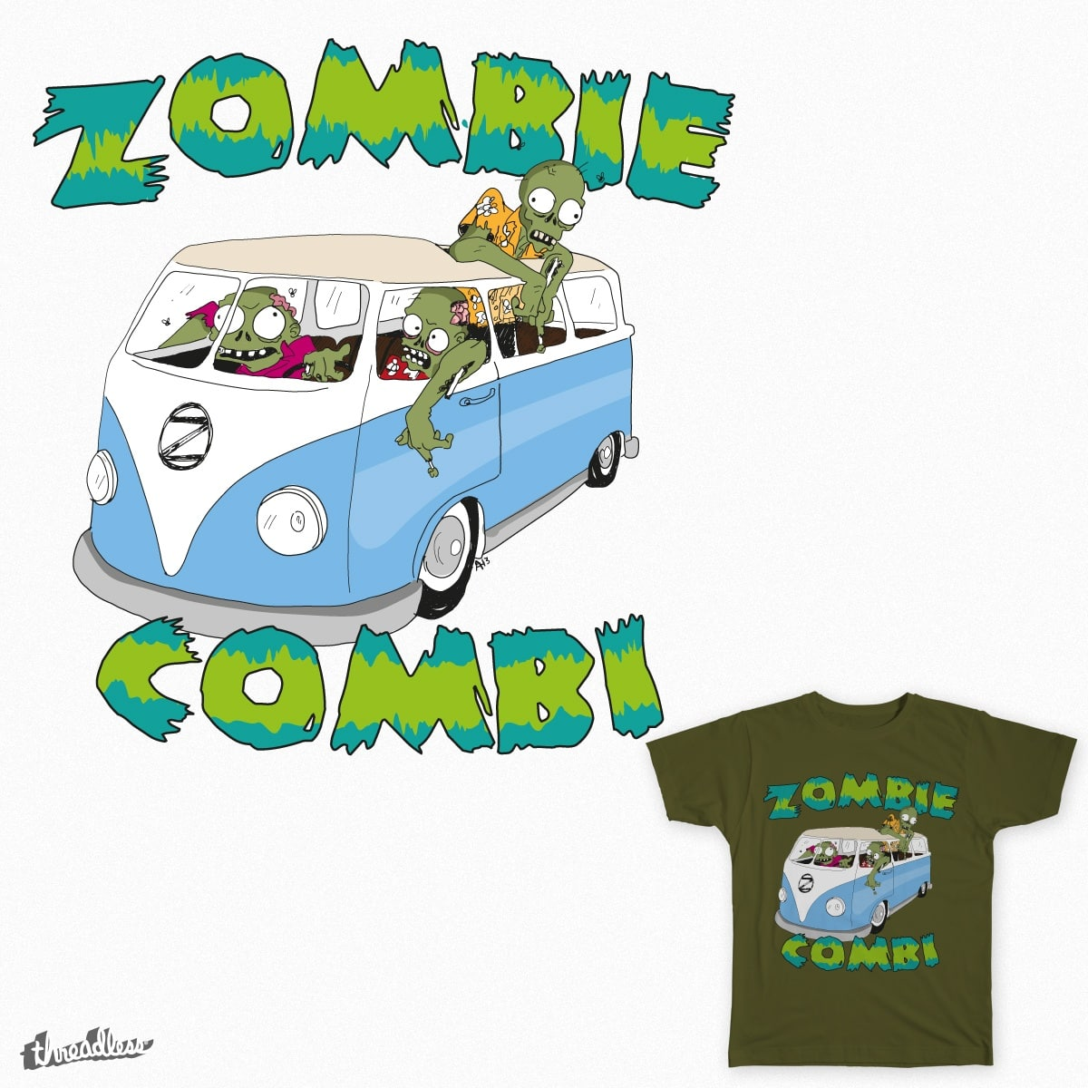 Zombie Combi by aldominium81 on Threadless