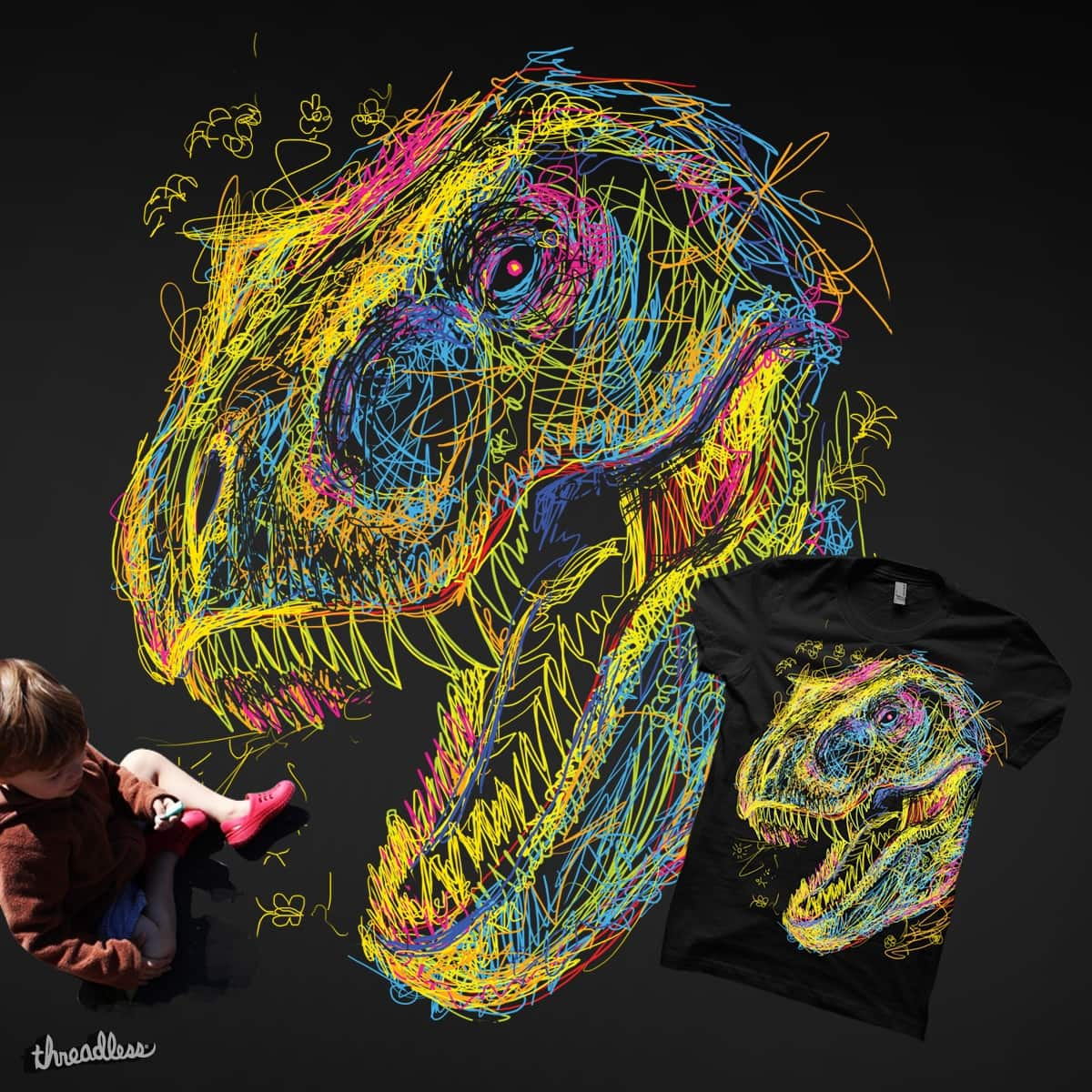 Kids Draw T Rex By Artemple On Threadless