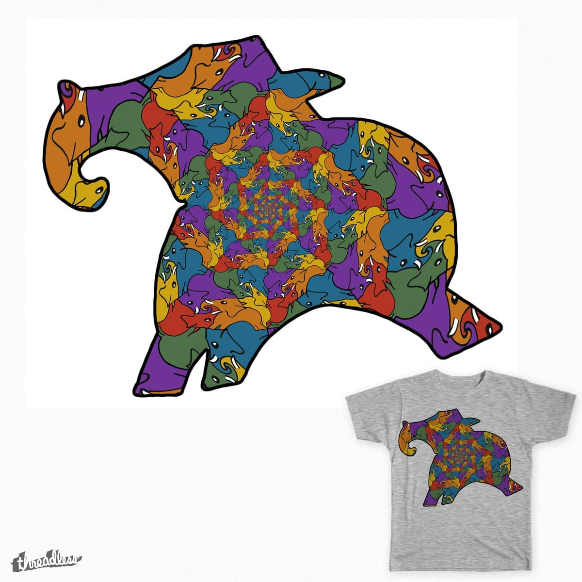 Tessellephants by thegnome54 on Threadless
