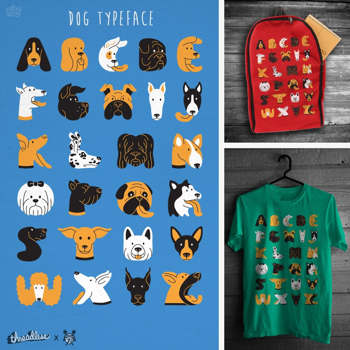 DOG TYPEFACE by albyletoy on Threadless