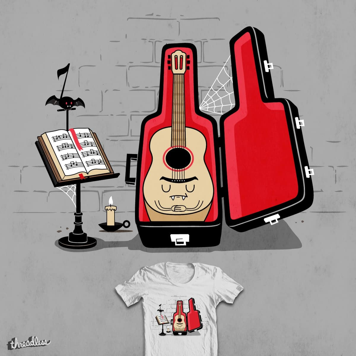I Vant To Strum Your Blood by FRICKINAWESOME and weird&co on Threadless