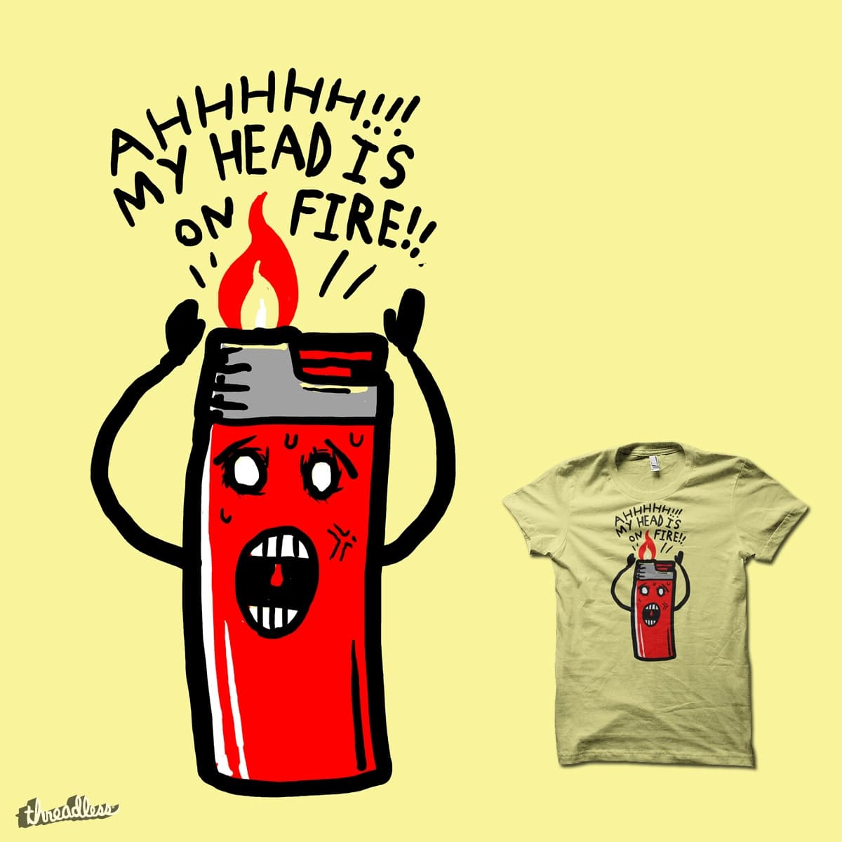 My Head Is On Fire by biotwist on Threadless