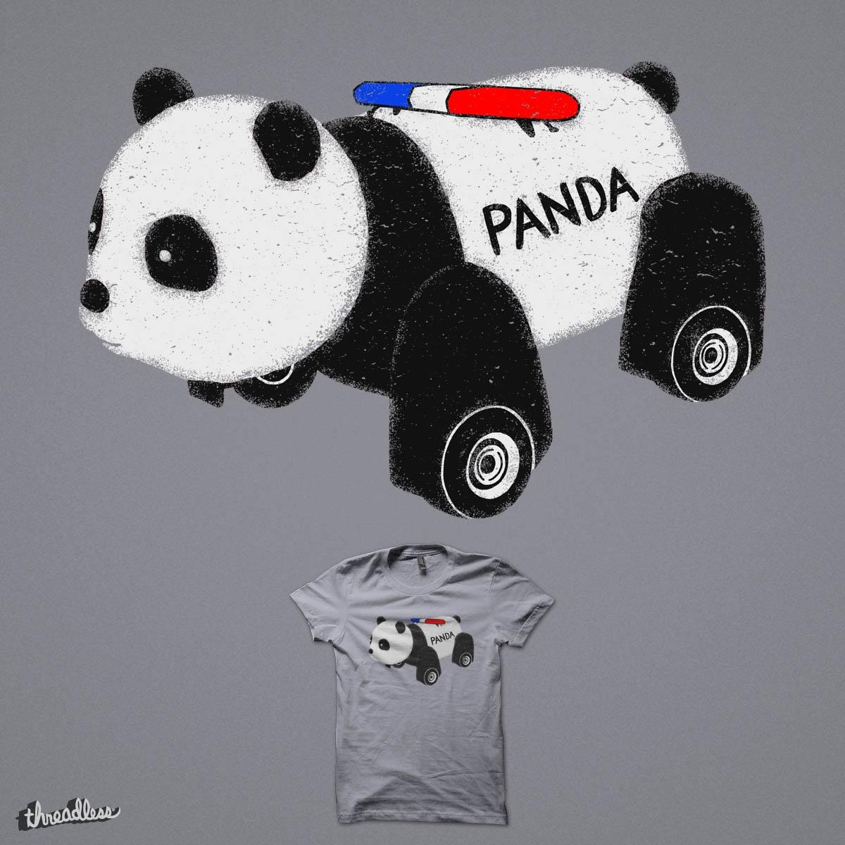 Panda Car by eikwox on Threadless
