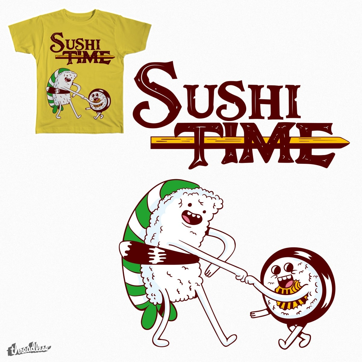 Sushi Time by Sr_Aderezo on Threadless