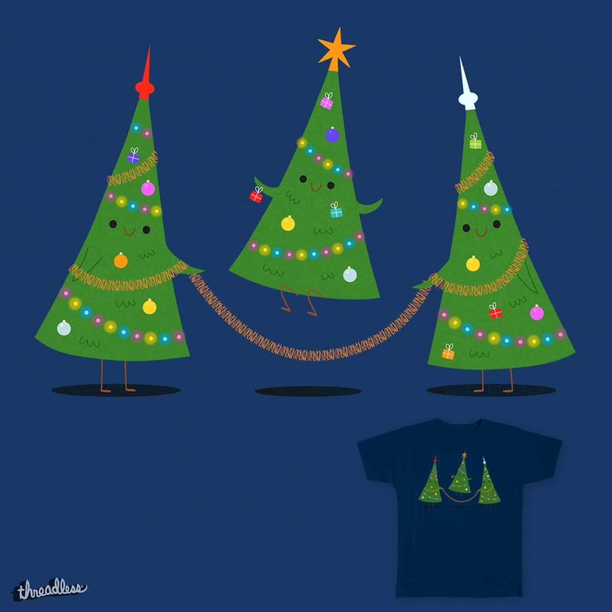 Christmas skipping by nes-k on Threadless