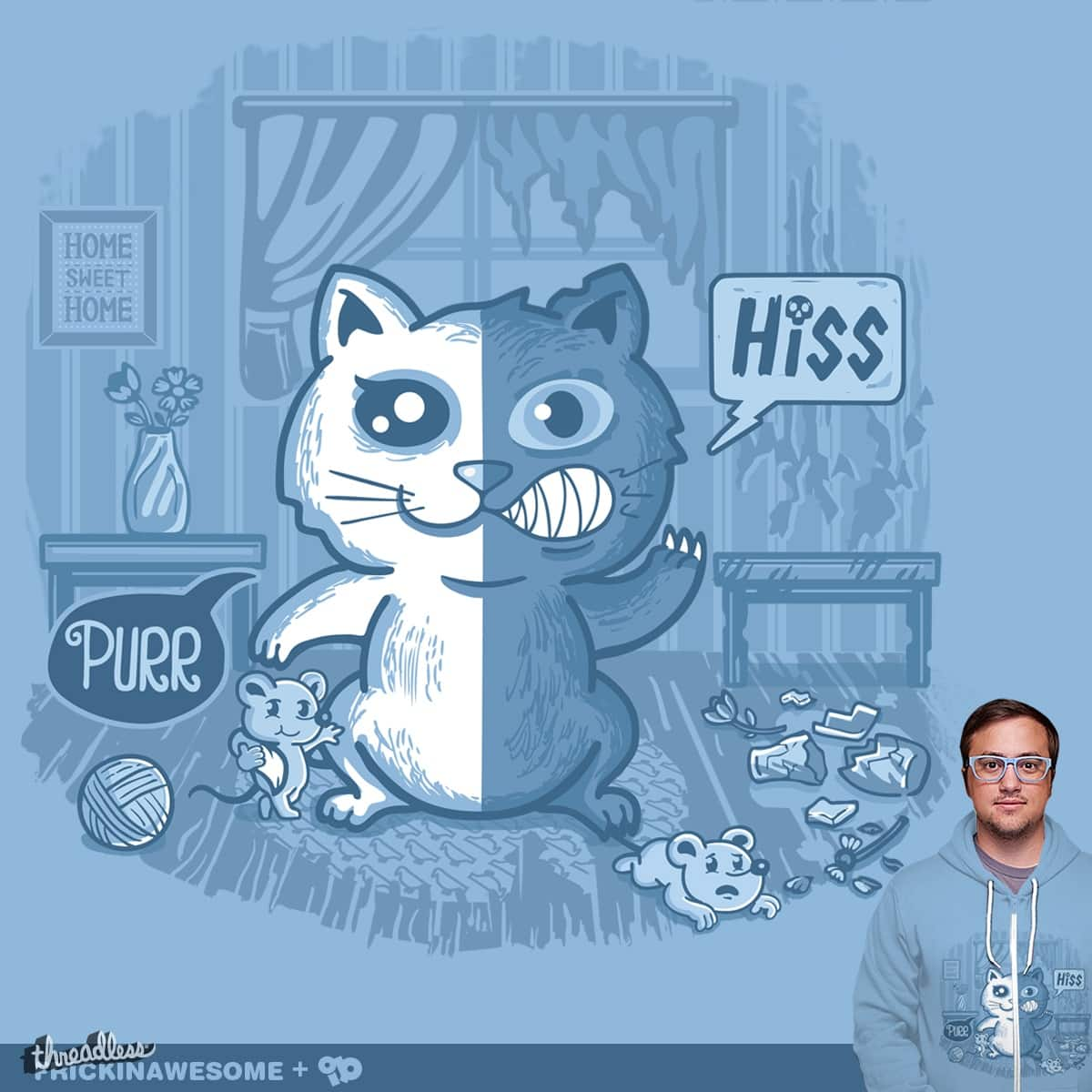 A Tale of Two Kitties by FRICKINAWESOME and ibyes on Threadless
