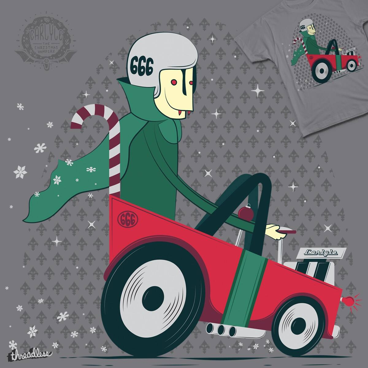 Carlyle's Christmas Ride by BeanePod on Threadless