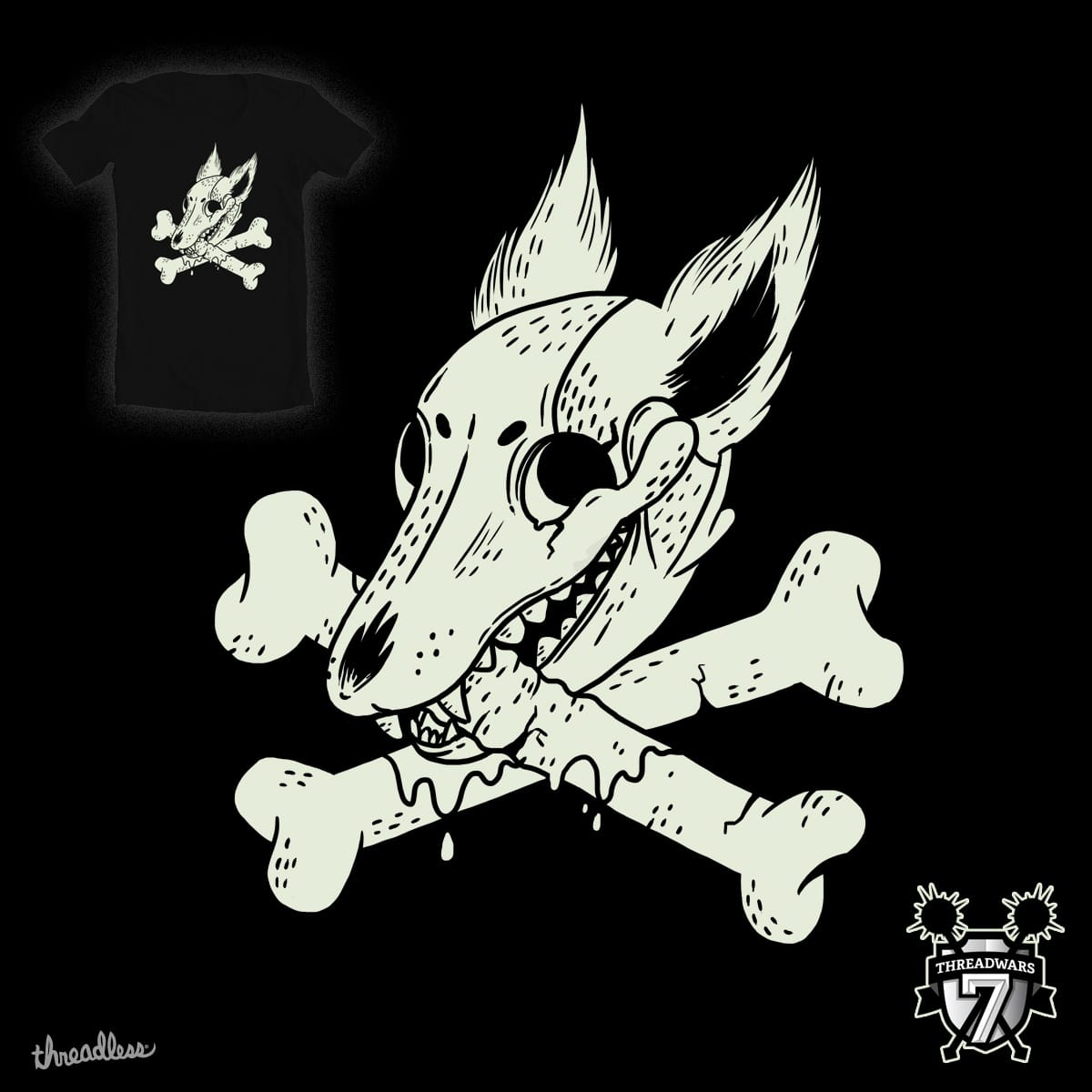 Dog & Crossbones by TheInfamousBaka on Threadless