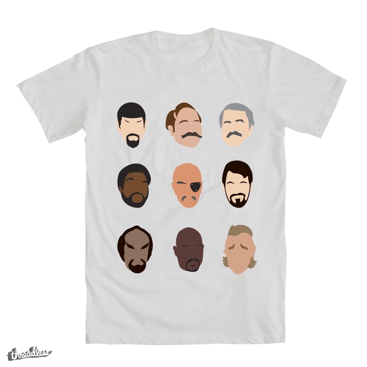 Beards of Star Trek by OhNoMyTurn on Threadless