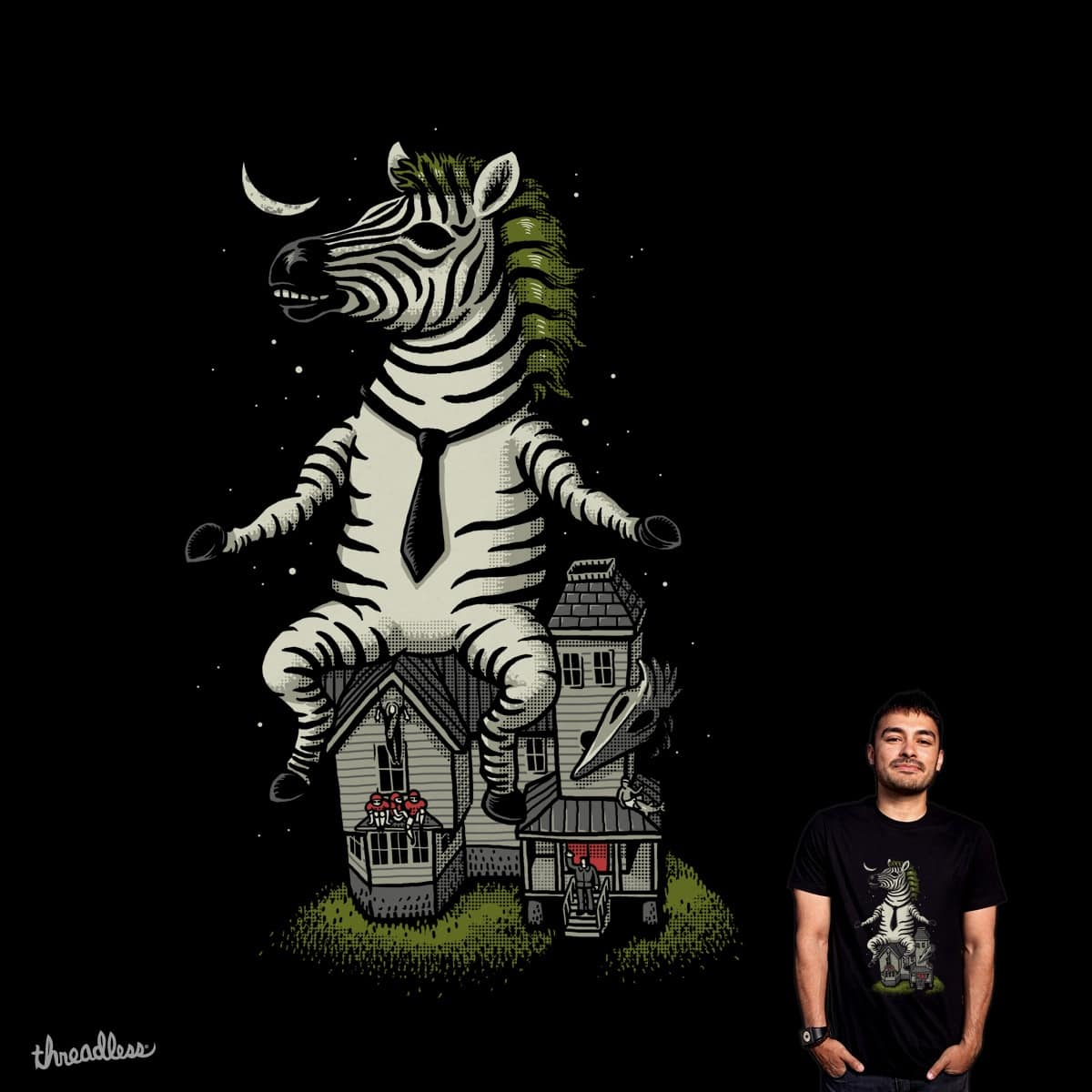 Zebra Exorcist by ben chen on Threadless