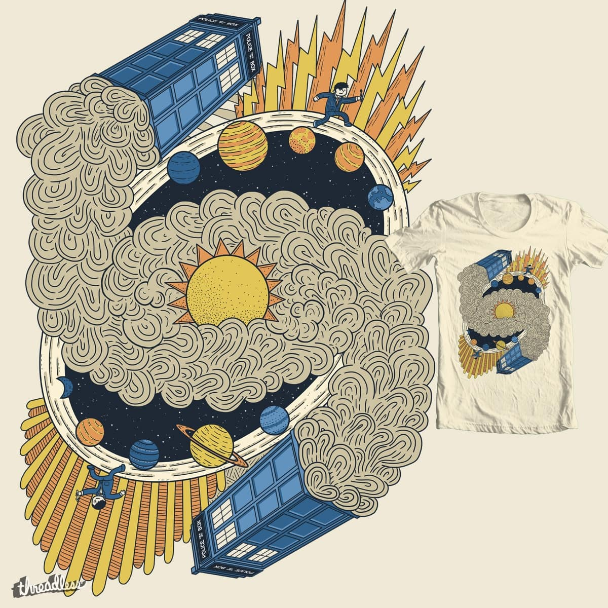 Planet Hopping by P0ckets on Threadless