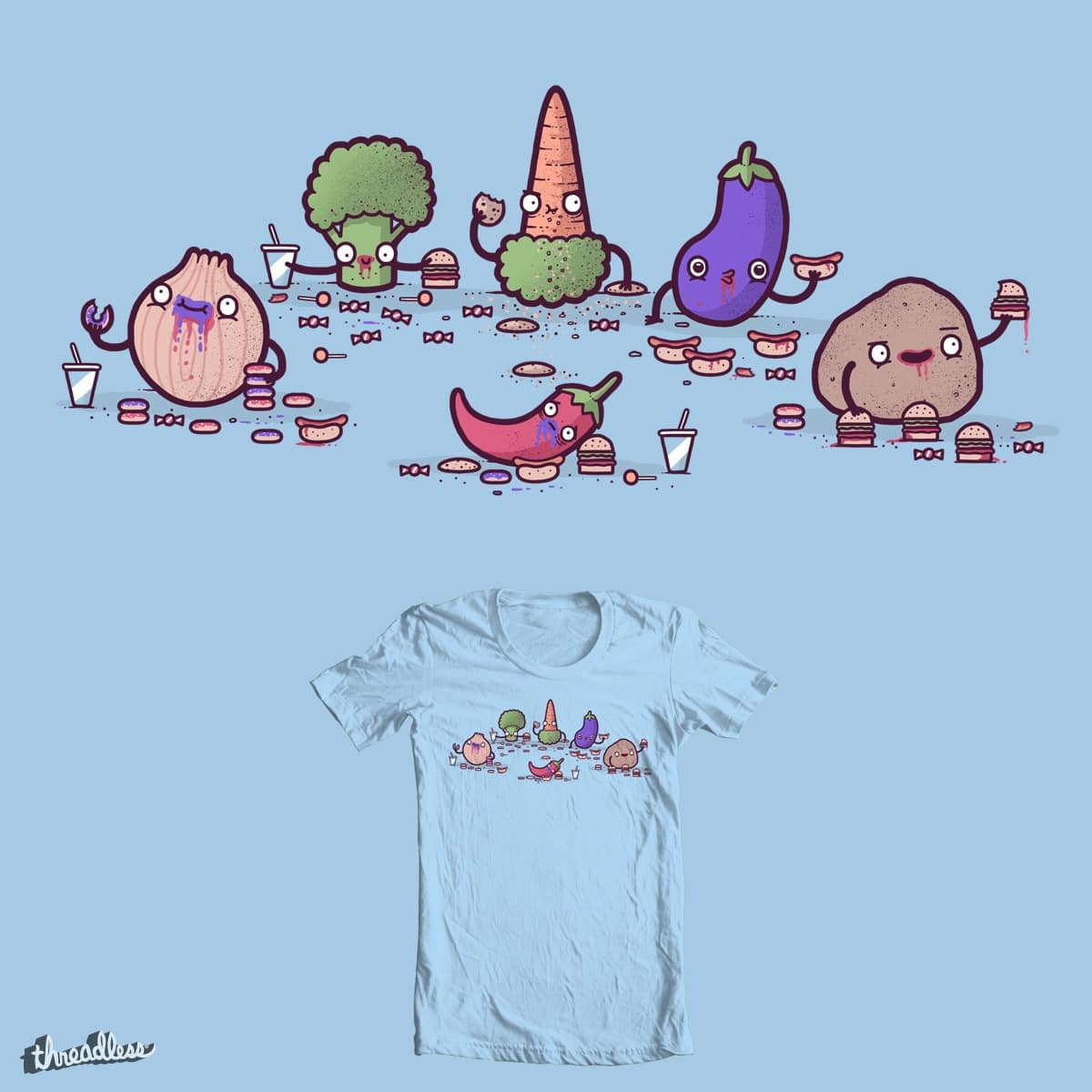 Unhealthy food by randyotter3000 and davidfromdallas on Threadless