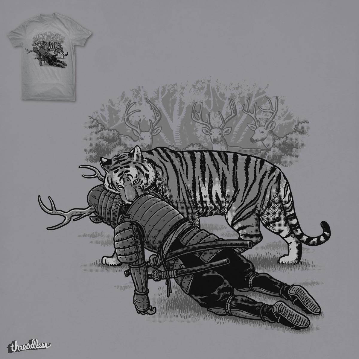 Tiger Eats The Deer by ben chen on Threadless