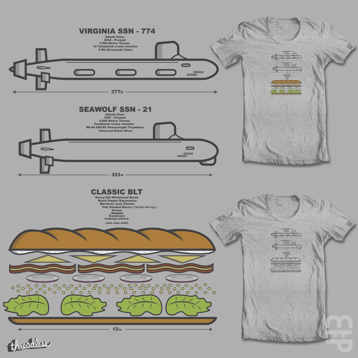 My Favorite Subs by mip1980 on Threadless
