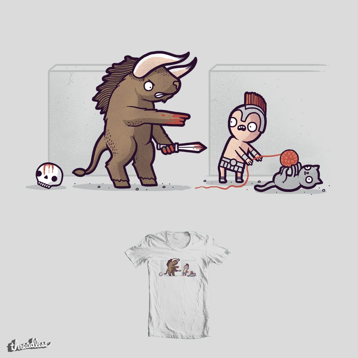The Minotaurs cat by randyotter3000 on Threadless