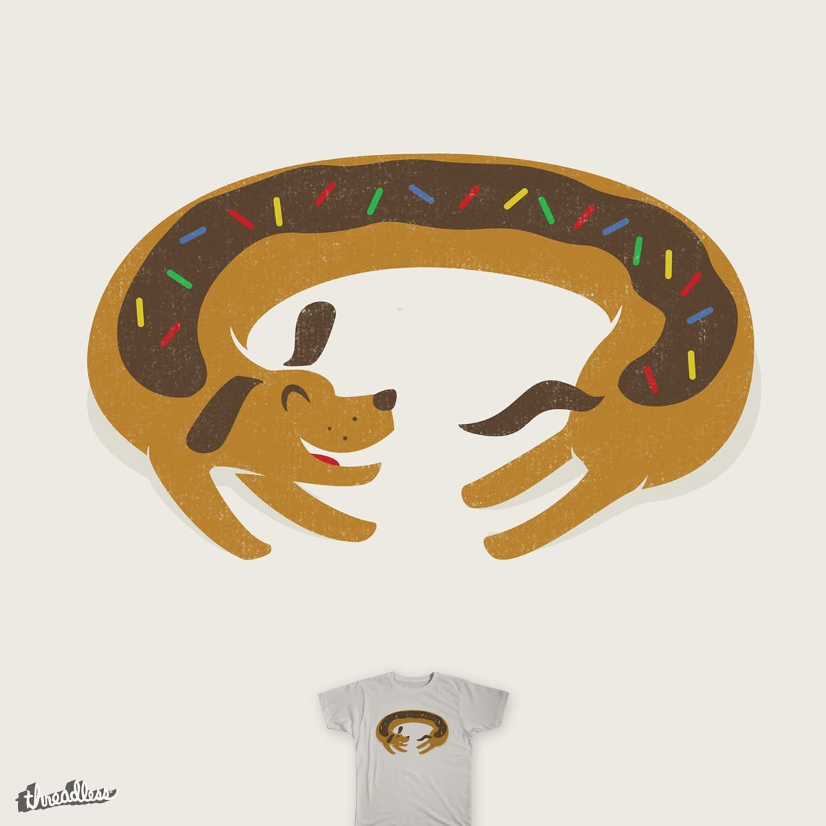 Sprinkled Dognut by murraymullet on Threadless