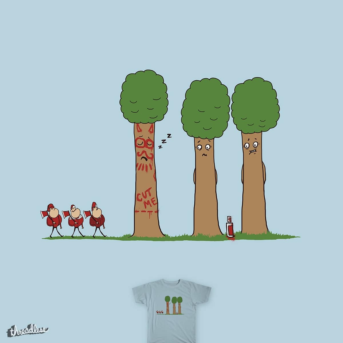 Tree Prank Gone Wrong by murraymullet on Threadless