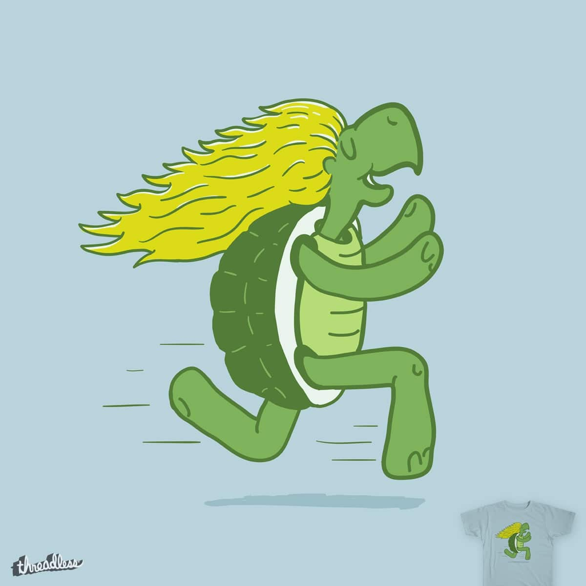 Tortoise and that Hair by murraymullet on Threadless