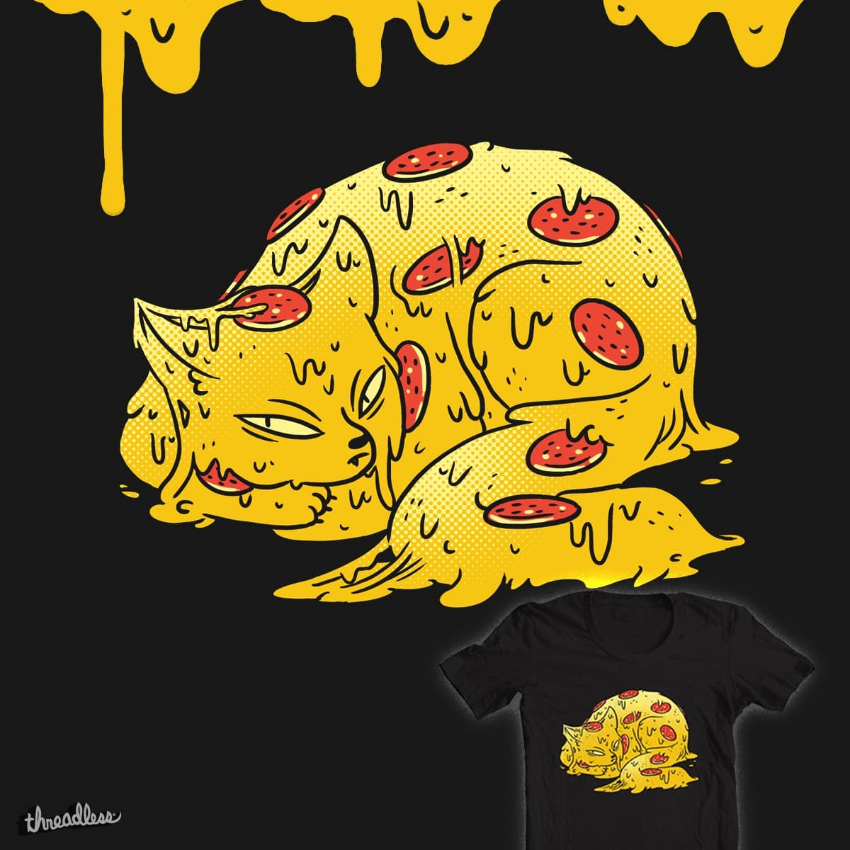 Pepperoni Pizzacat by TheInfamousBaka on Threadless