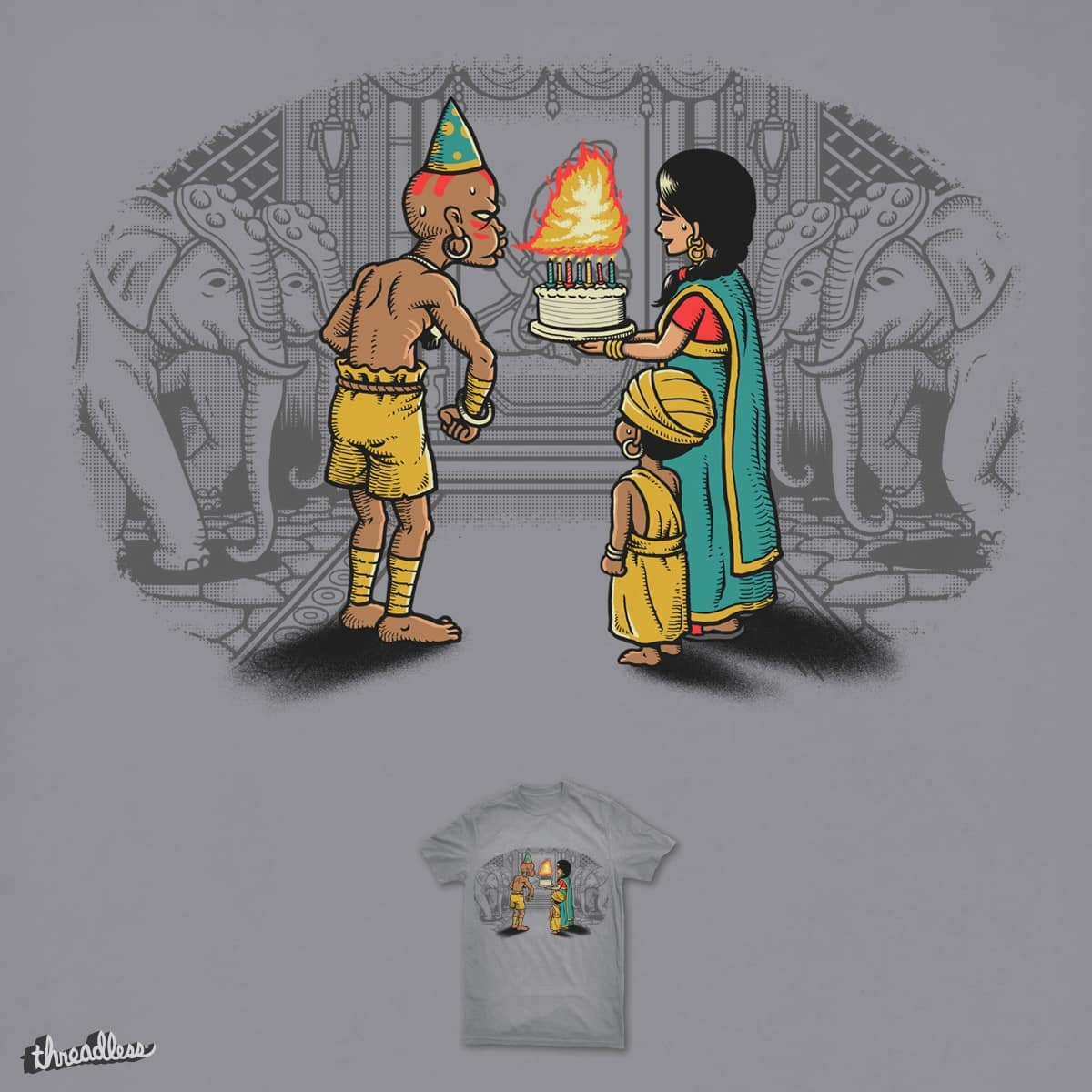 I Can't Blow Out The Candles by ben chen on Threadless