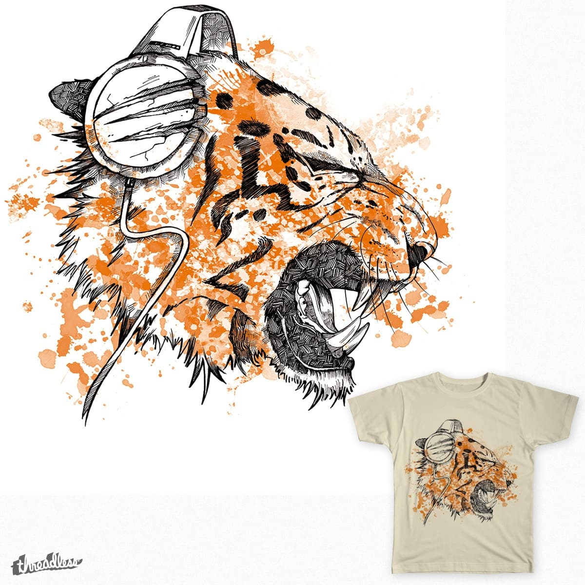 The Ear of the Tiger by filds on Threadless