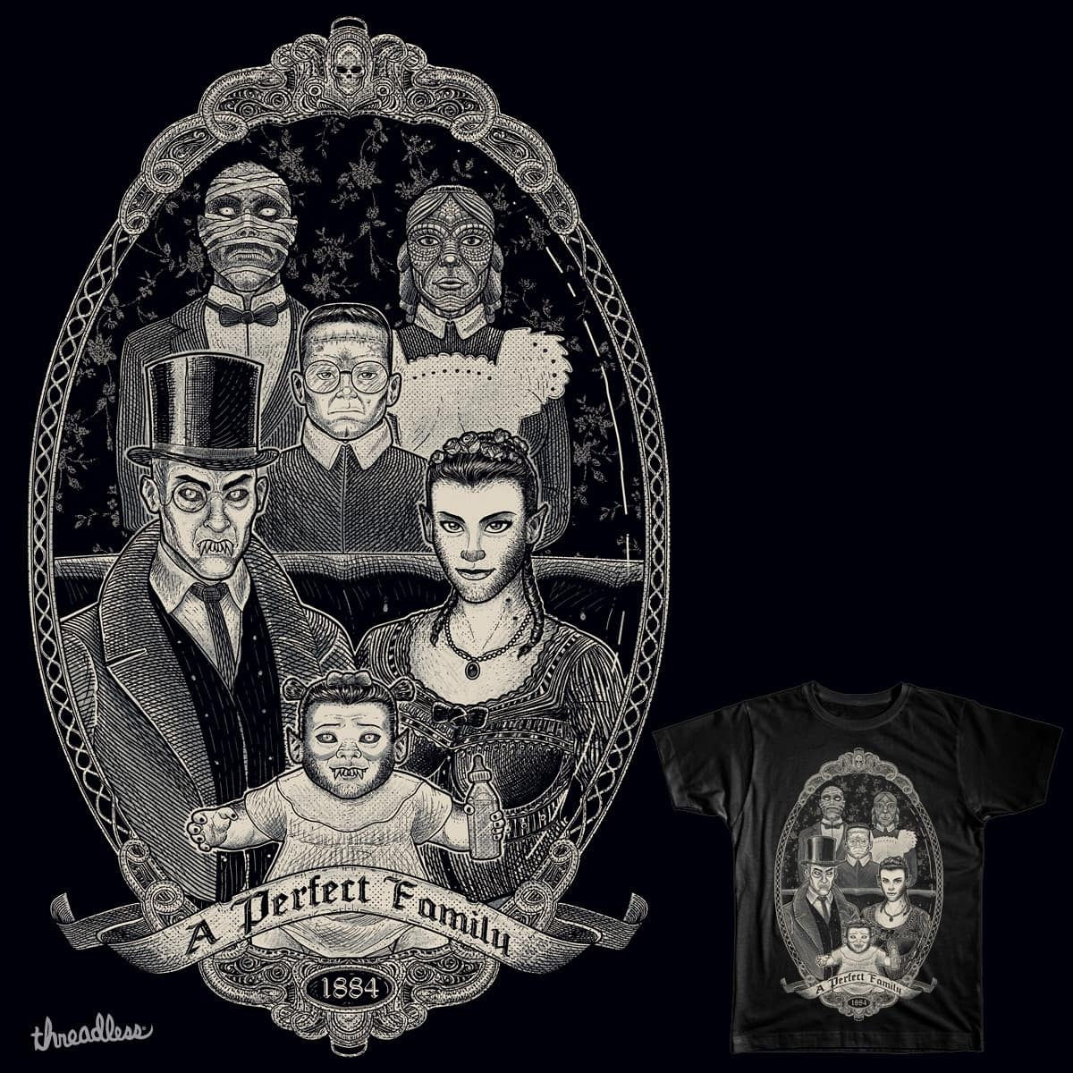 Strange Portrait of a Perfect Family by wagnogueira on Threadless