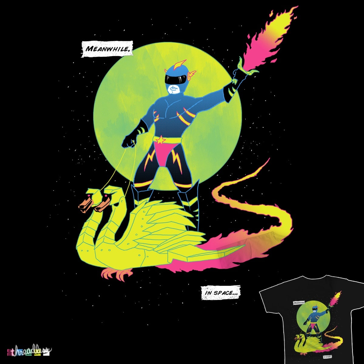 Meanwhile, In Space by wytrab8 on Threadless