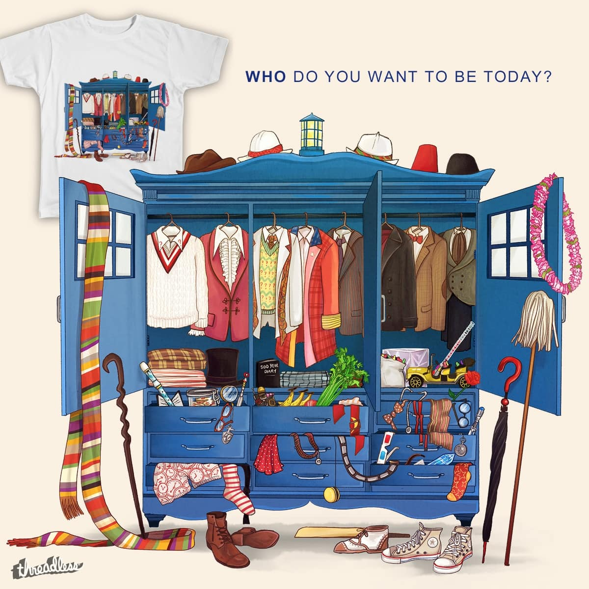 Who do you want to be today? by Alicia-B on Threadless