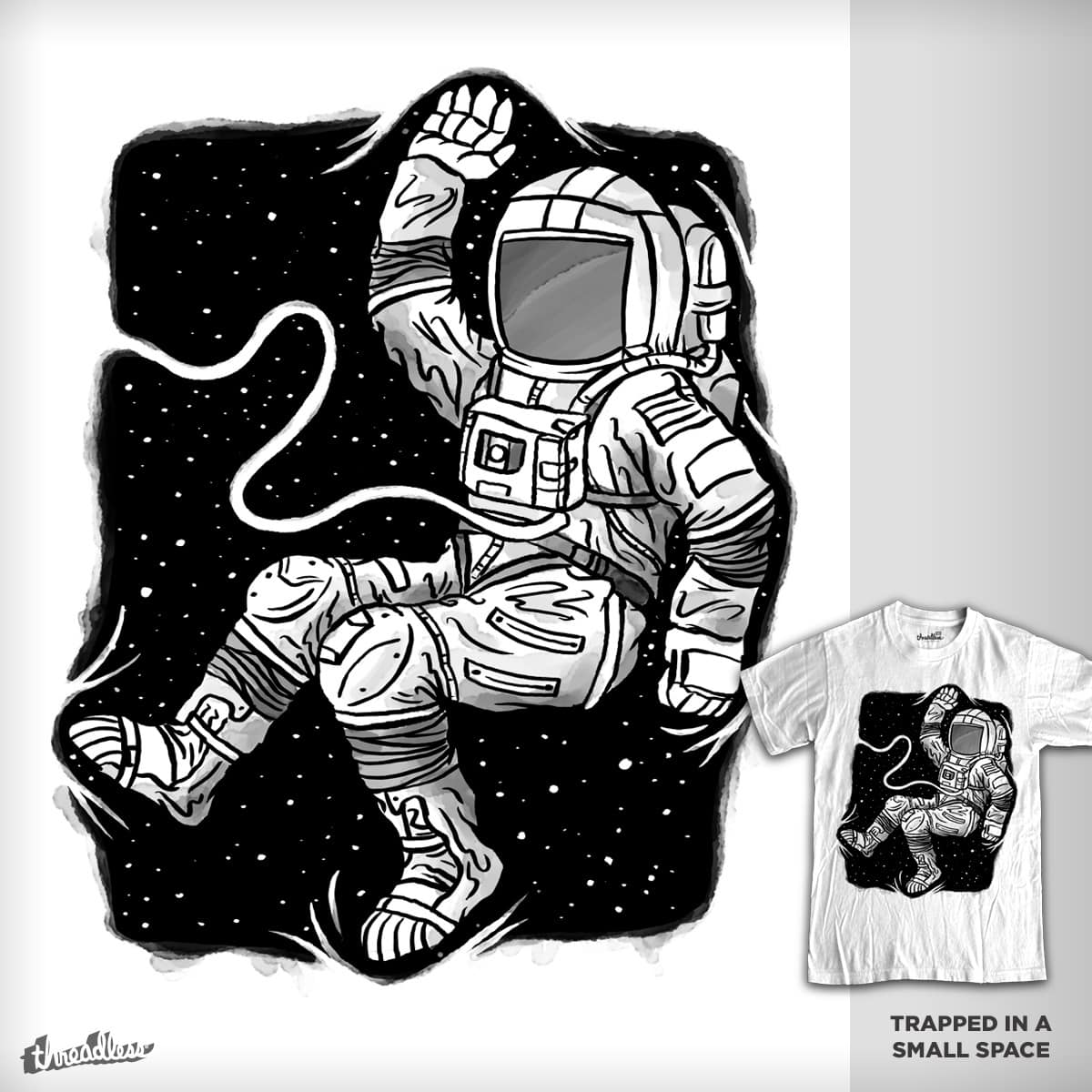 Trapped in a Small Space by WanderingBert on Threadless