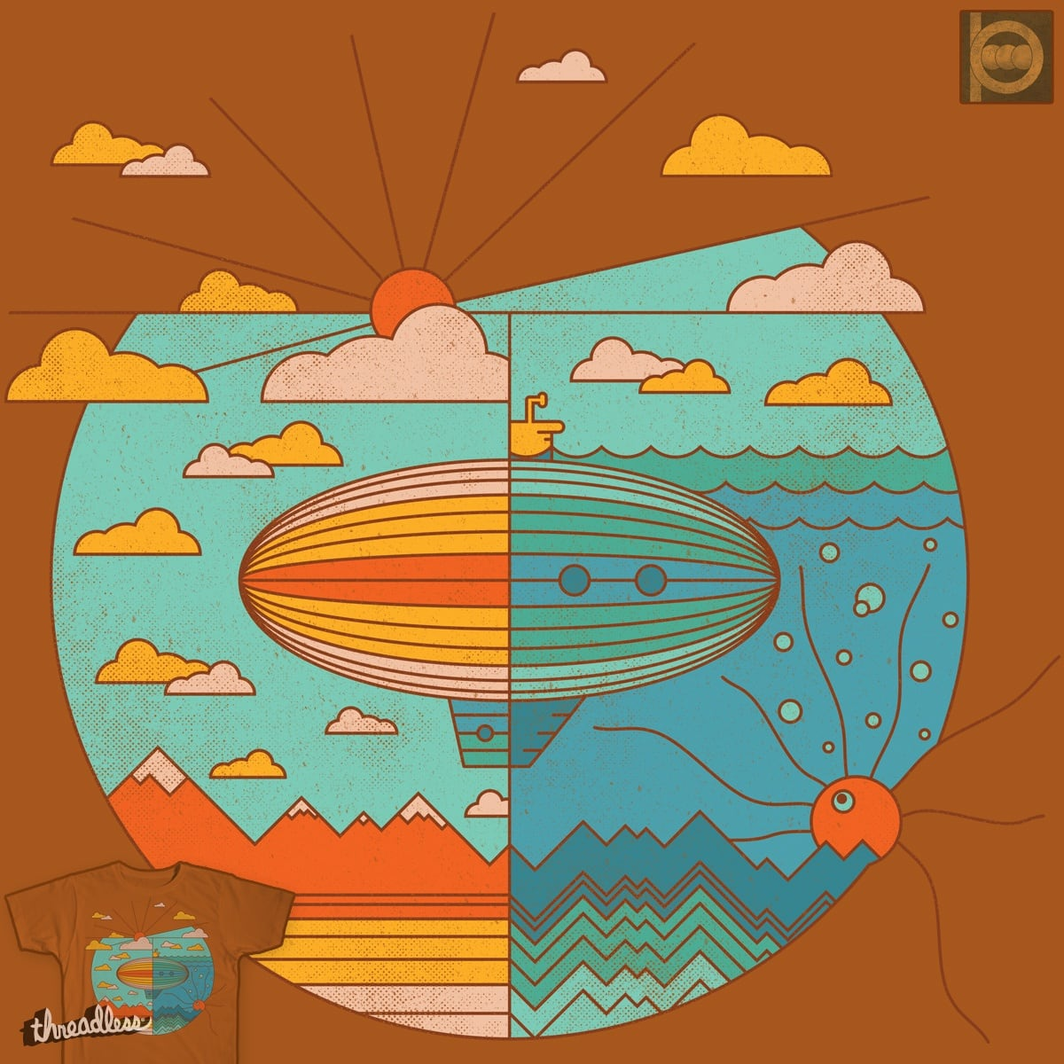 AS ABOVE, SO BELOW (Color Version) by BeanePod on Threadless