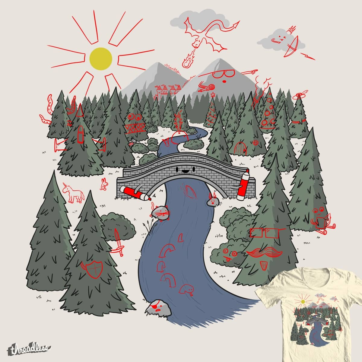 Draw Bridge by FRICKINAWESOME and P0ckets on Threadless