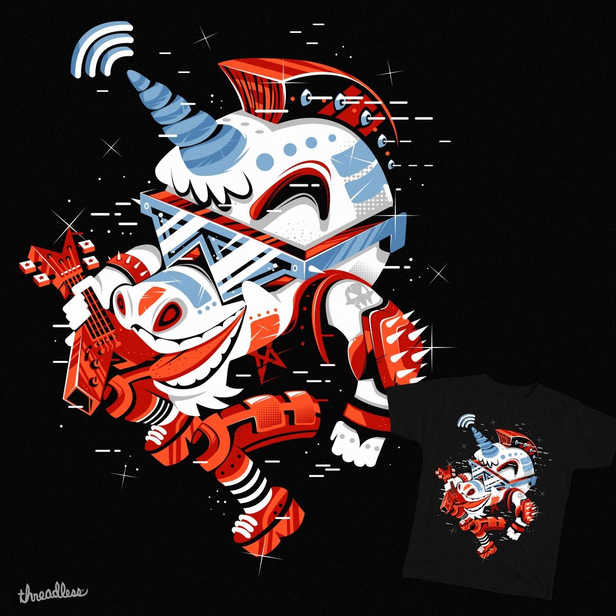 Rockstar unicorn with wifi by Newfrenmonster on Threadless