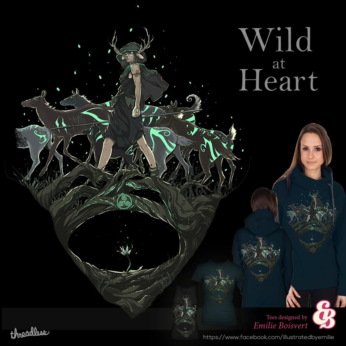 Wild at Heart by Emilie_Boisvert on Threadless