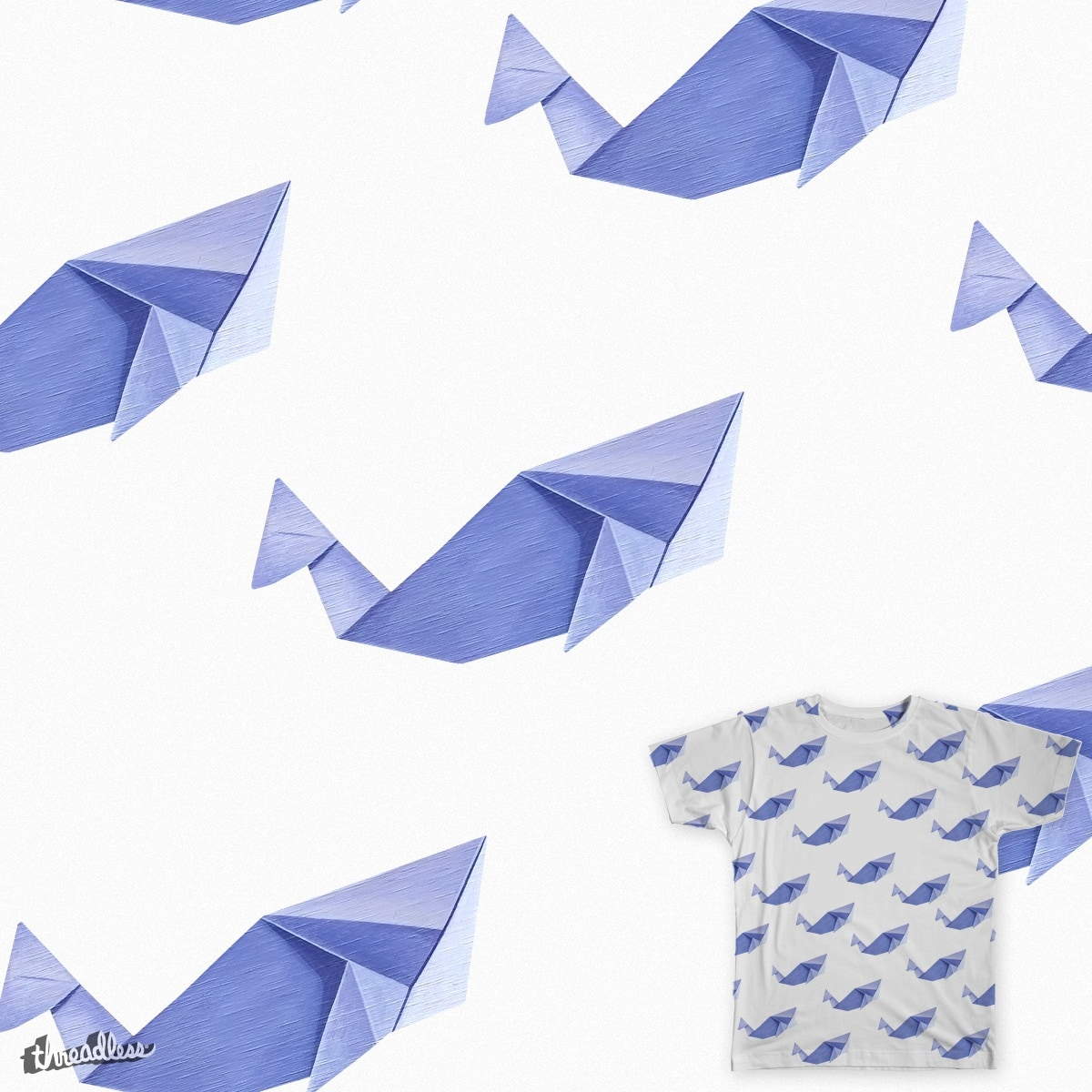Origami whale by Nuviart_ on Threadless