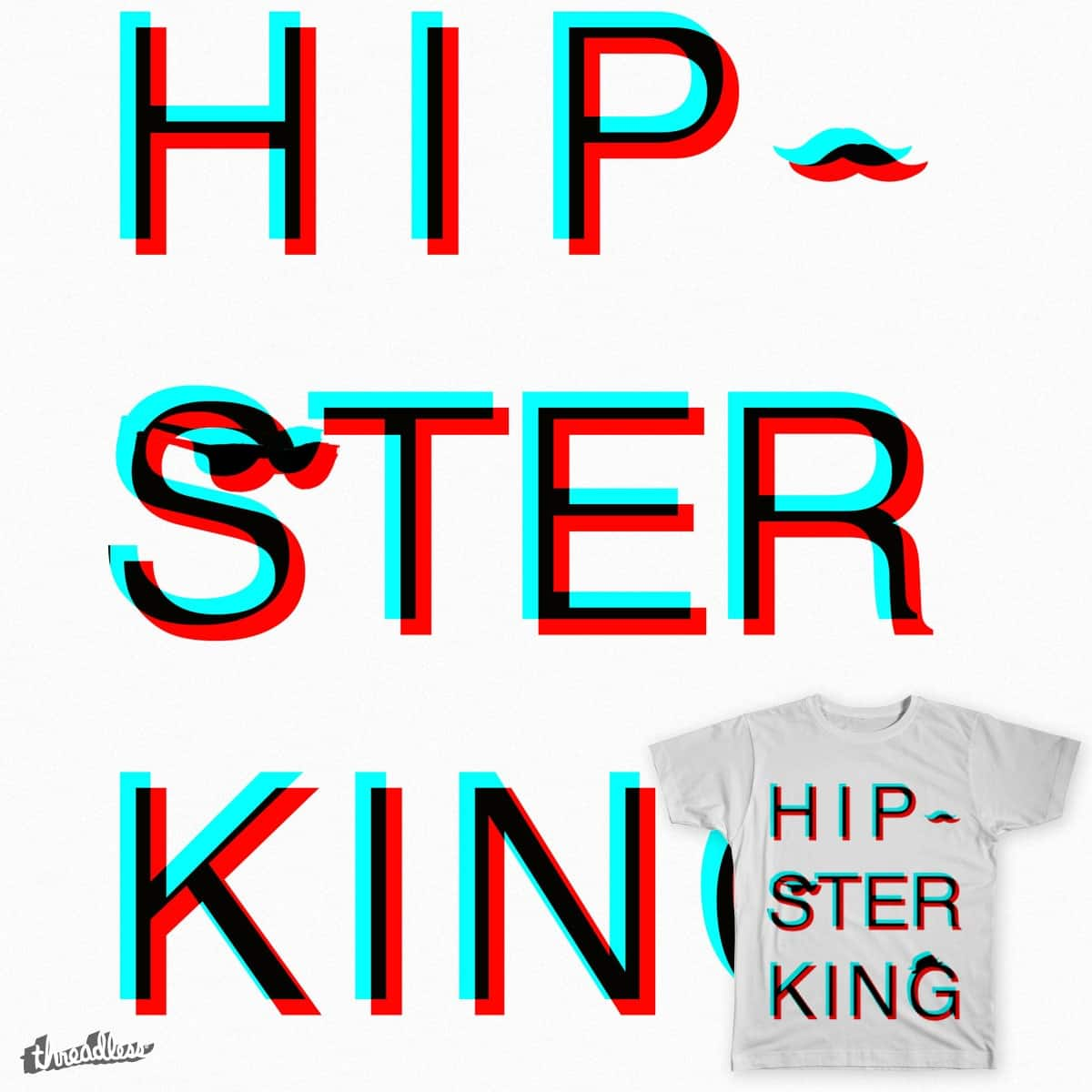 Hipster King by Applestooranges on Threadless