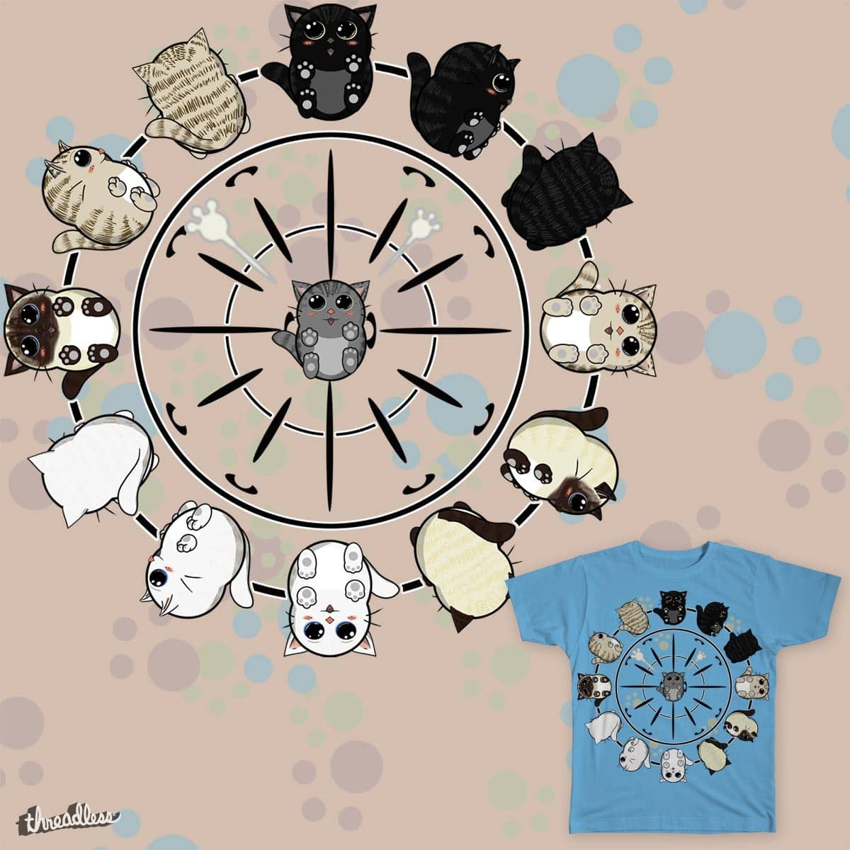 Kitty O'clock by OliverDemers on Threadless