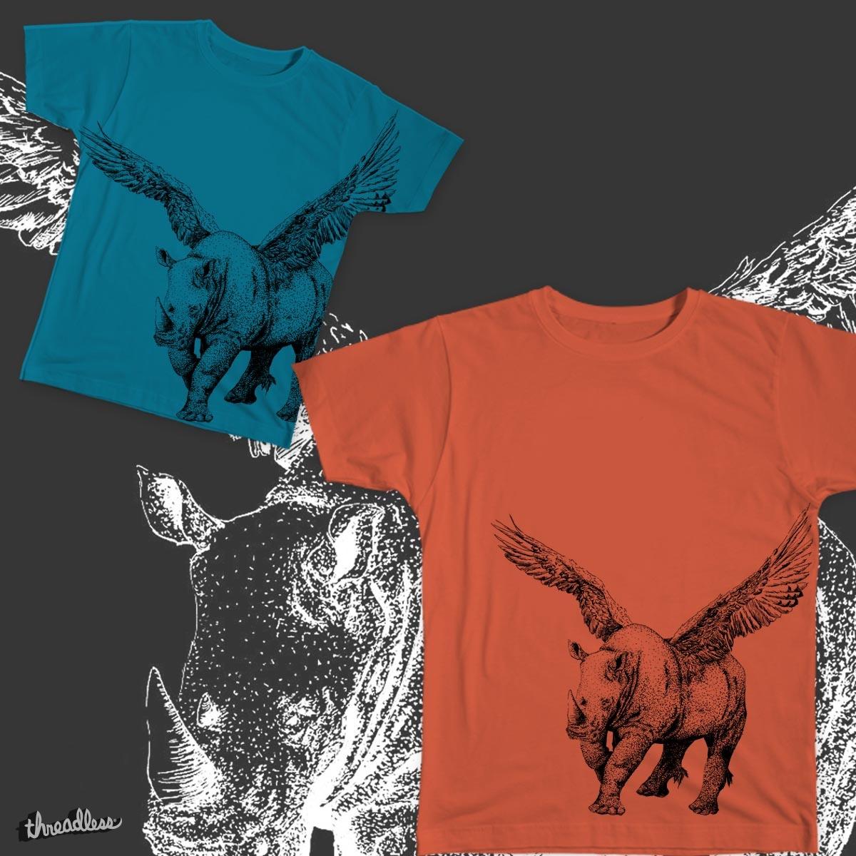 Reagle (Rhino+Eagle) by KissMyArtse on Threadless