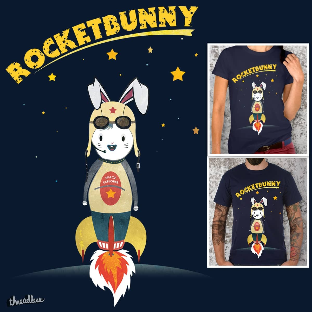 RocketBunny by lelelude on Threadless
