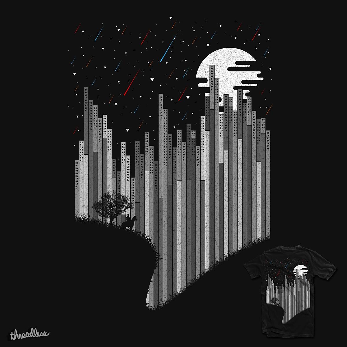 A Thousand Wishes Fall Upon Geometropolis by rizkisyahril on Threadless