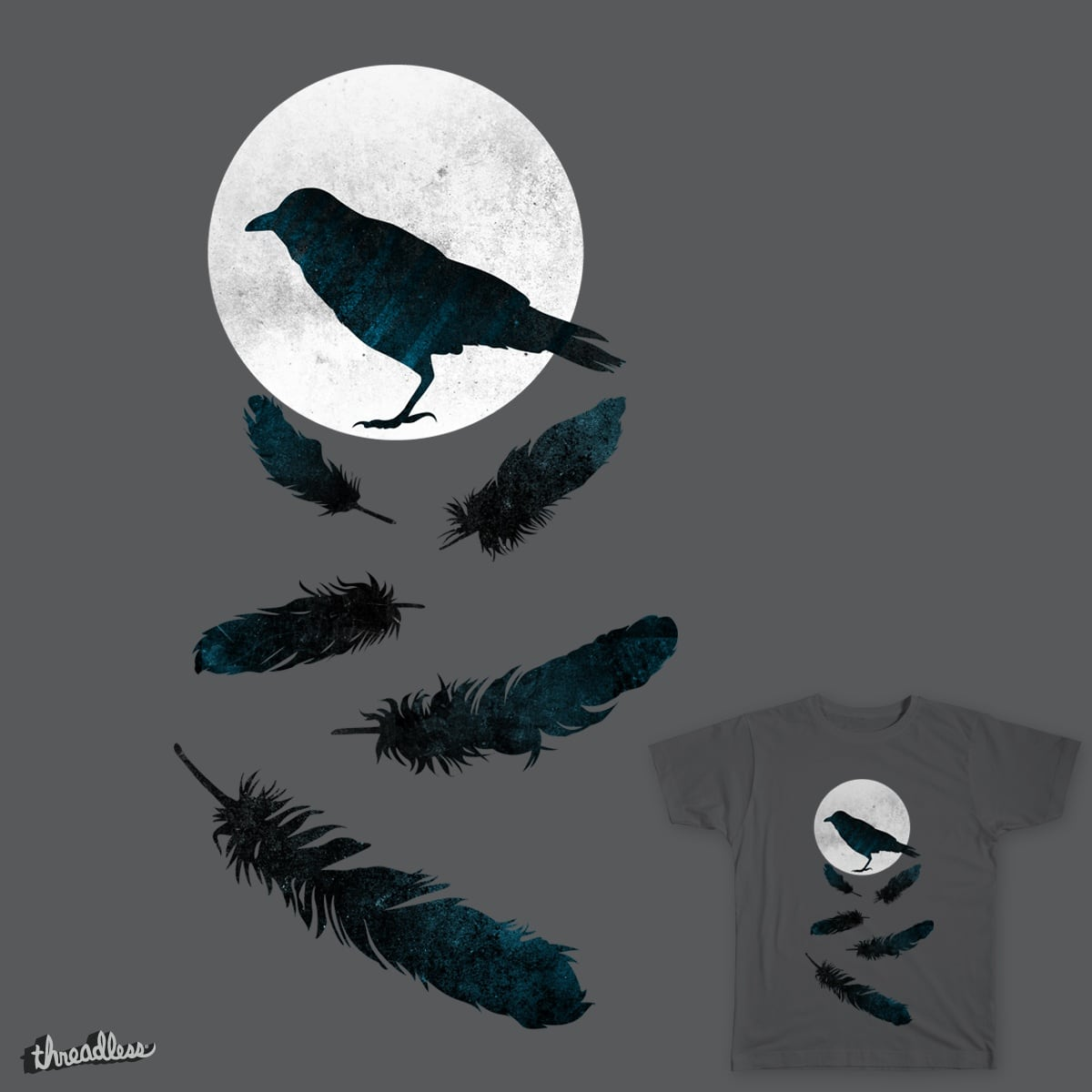 nightly crow by ViVaiolet on Threadless
